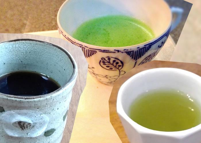 一杯あたりの価格:コーヒー、抹茶、煎茶