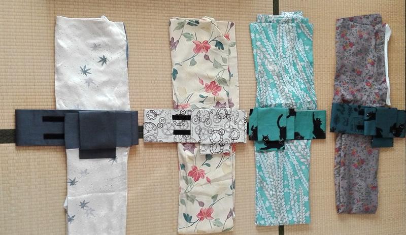 茶会のために、二部式着物4つと作り帯6つまで作りましたよ