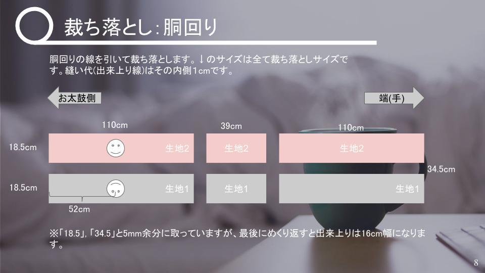 名古屋帯の作り方 リバーシブル v2 - 20181115 (7)