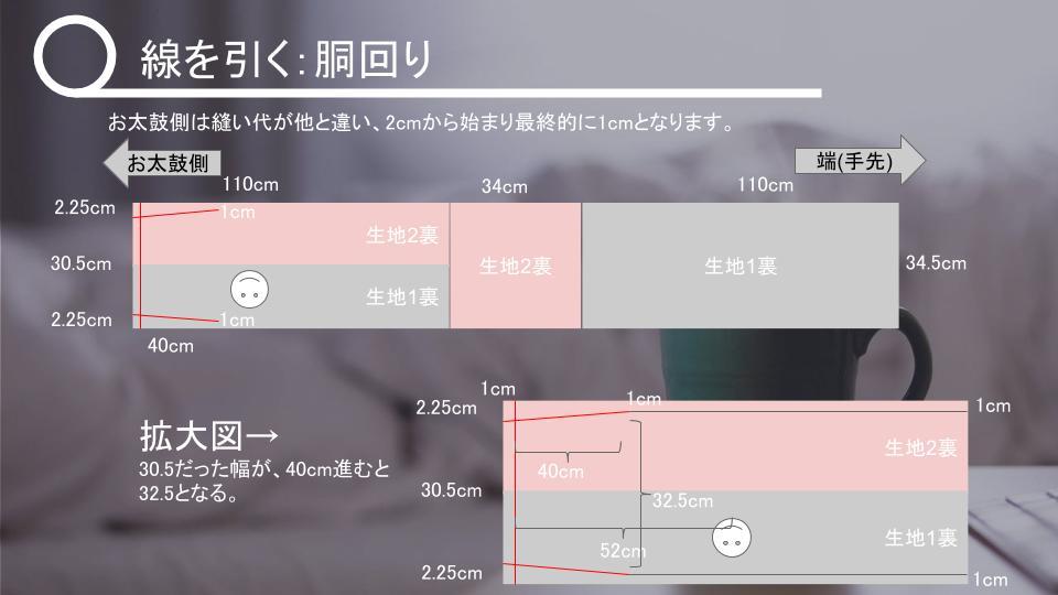 名古屋帯の作り方 表生地が小さいとき v2 - 20181114 (9)