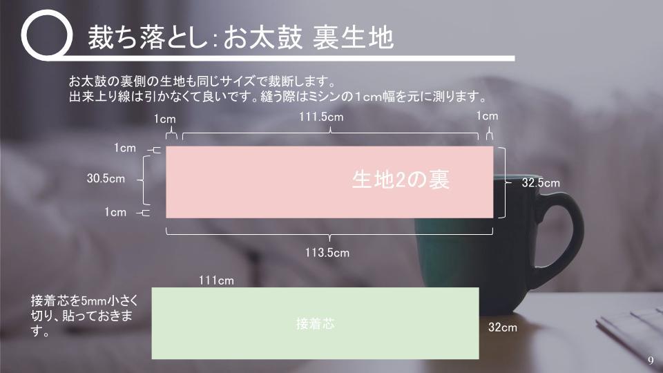 名古屋帯の作り方 表生地が小さいとき v2 - 20181114 (3)