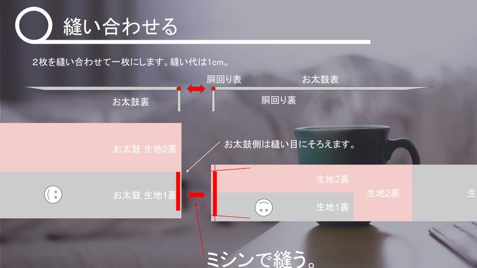 名古屋帯の作り方 表生地が小さいとき v2 - 20181114 (10)