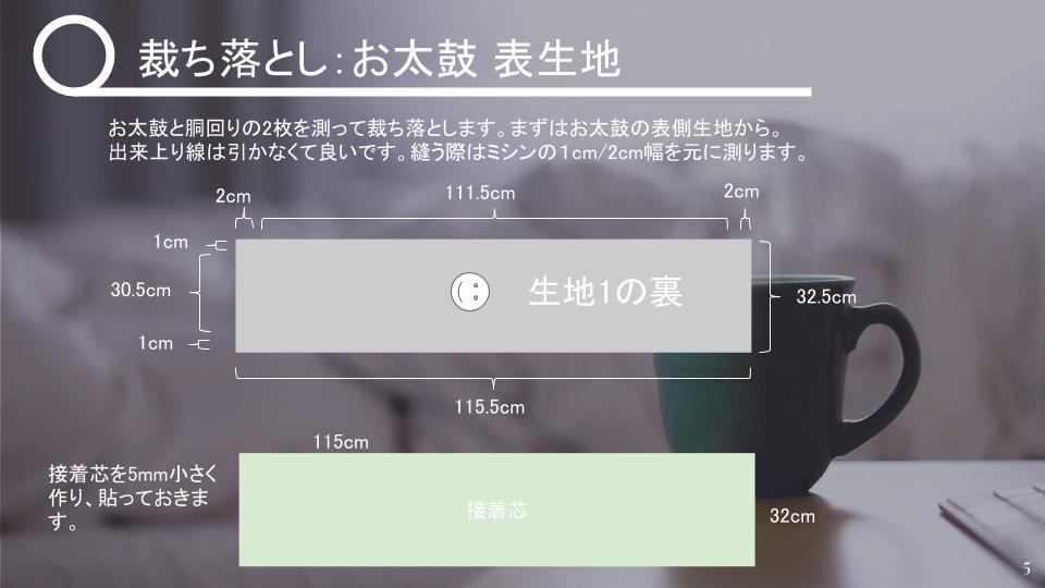 名古屋帯の作り方 リバーシブル v2 - 20181115 (4)