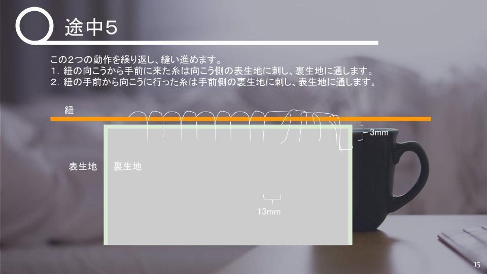 茶碗の仕覆の作り方 中級 v1 - 20210427 (14)